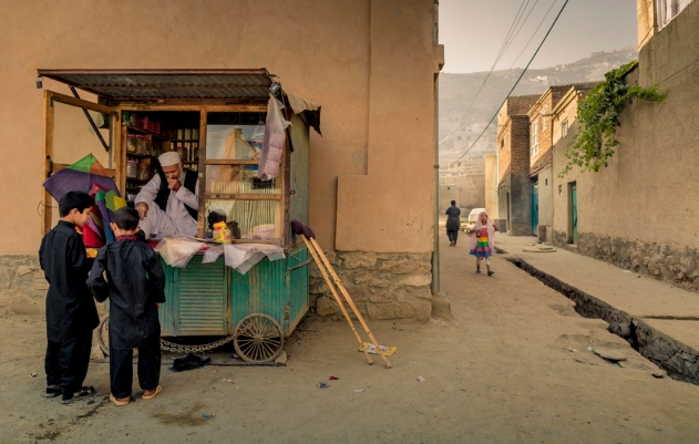 Street scene in Kabul, during the second day of Eid e-Khorban celebrations.