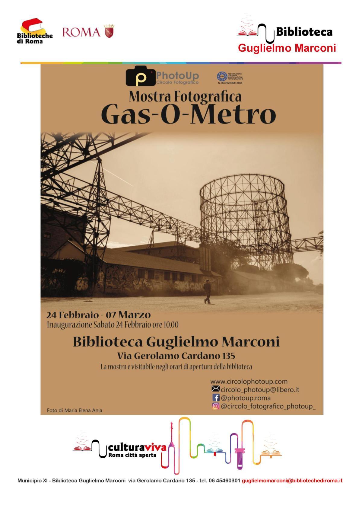 Locandina Mostra fotografica Gas-O-Metro