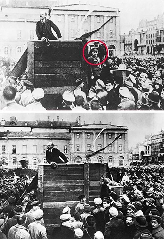 2.Rimozione fotografica di Lev Trotsky